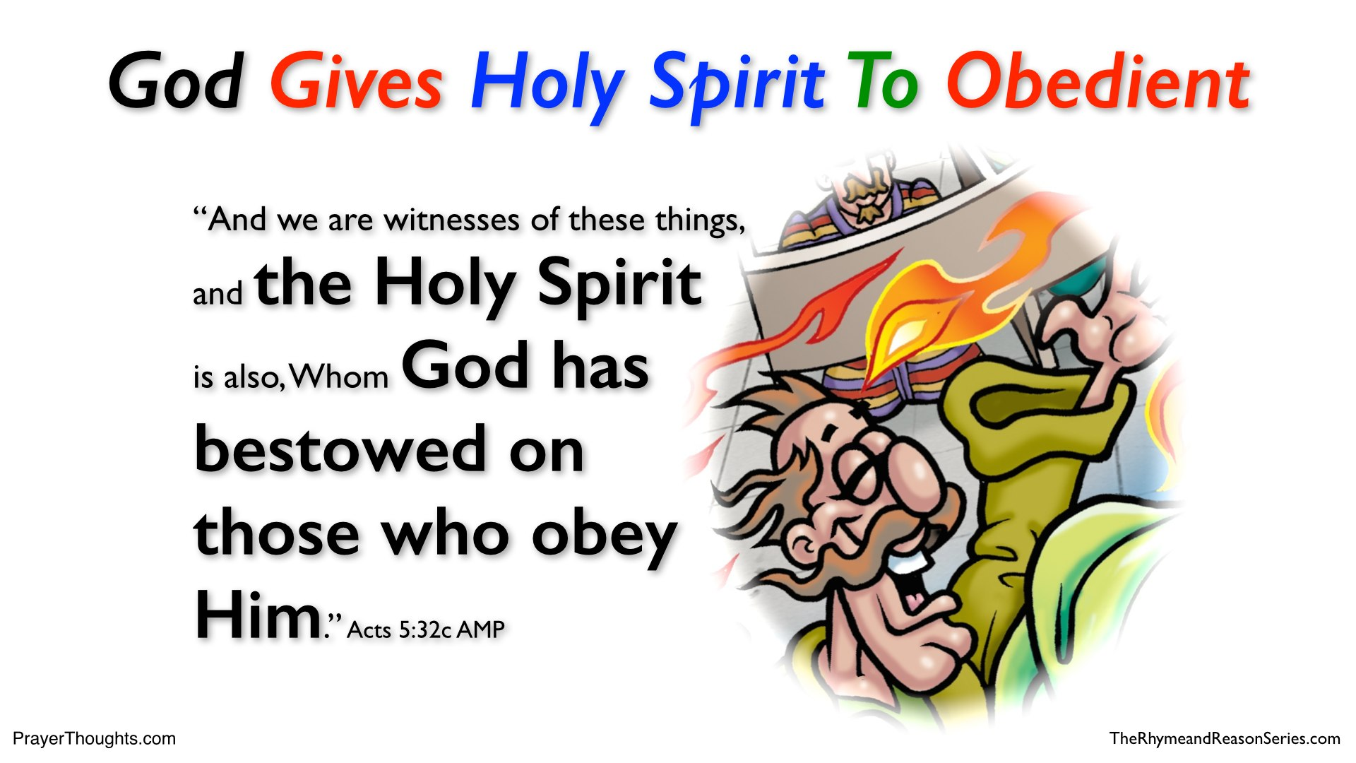 THE HOLY SPIRIT GIVEN TO THOSE WHO OBEY GOD